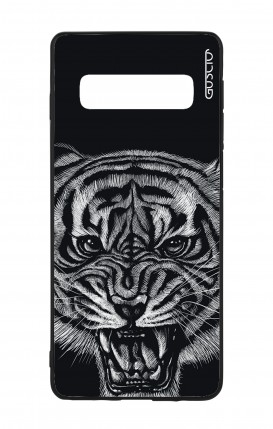 Samsung S10 WHT Two-Component Cover - Black Tiger