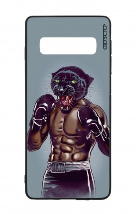 Samsung S10 WHT Two-Component Cover - Boxing Panther