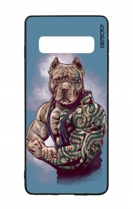 Samsung S10 WHT Two-Component Cover - Pitbull Tattoo