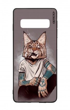 Cover Bicomponente Samsung S10 - Lince Tattoo