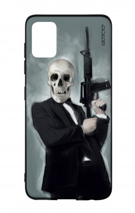 Samsung A51 Two-Component Cover - Skull with Tommy-Gun