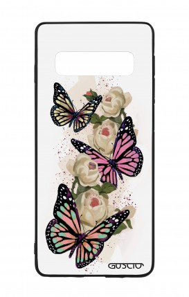 Samsung S10 WHT Two-Component Cover - Butterflies white