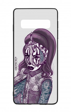 Samsung S10 WHT Two-Component Cover - Chicana Pin Up Clown