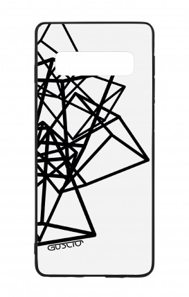 Samsung S10 WHT Two-Component Cover - Geometric shapes