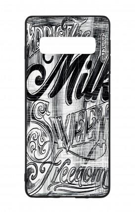 Samsung S10 WHT Two-Component Cover - Black and white graffiti