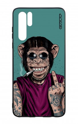 Huawei P30PRO WHT Two-Component Cover - Monkey's always Happy