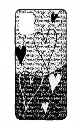Samsung A51 Two-Component Cover - Black & White Writings