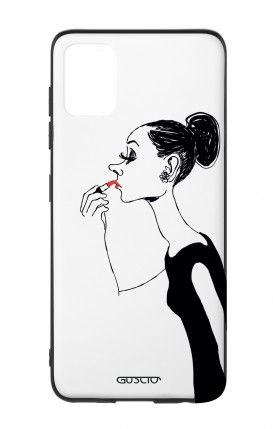 Cover Bicomponente Samsung A51 - Miss con rossetto