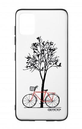 Cover Bicomponente Samsung A51 - Albero e bicicletta