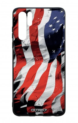 Huawei P30PRO WHT Two-Component Cover - Used America Flag