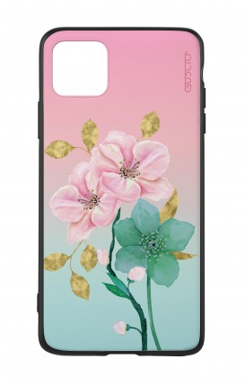 Apple iPh11 PRO MAX WHT Two-Component Cover - Pink Flowers