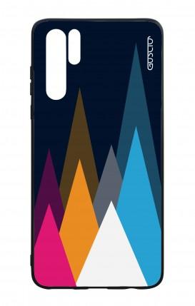 Cover Bicomponente Huawei P30PRO - Cime su fondo Blu