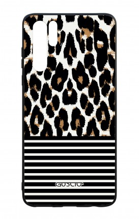 Huawei P30PRO WHT Two-Component Cover - Animalier & Stripes