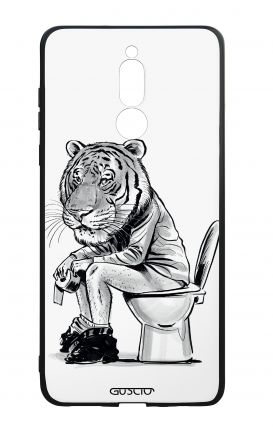 Huawei Mate10Lite WHT Two-Component Cover - Tiger on WC