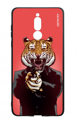 Huawei Mate10Lite WHT Two-Component Cover - Tiger with Gun