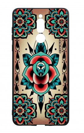 Huawei Mate10Lite WHT Two-Component Cover - Old School Tattoo Rose