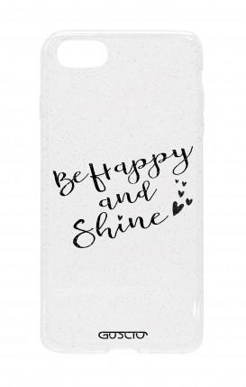 Cover Glitter Soft Apple iPhone 6/6s - Sii felice e brilla