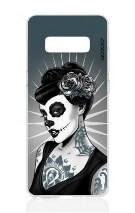 Cover TPU Samsung NOTE 8 - Calavera bianco e nero