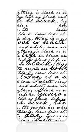 Cover TPU Samsung NOTE 8 - Scritte in bianco e nero