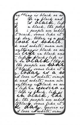 Cover Bicomponente Apple iPhone X/XS - Scritte in bianco e nero