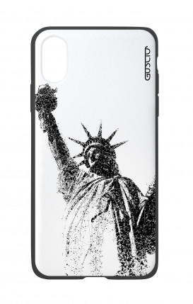 Apple iPhone X White Two-Component Cover - Statue of Liberty