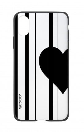 Apple iPhone X White Two-Component Cover - Half Heart