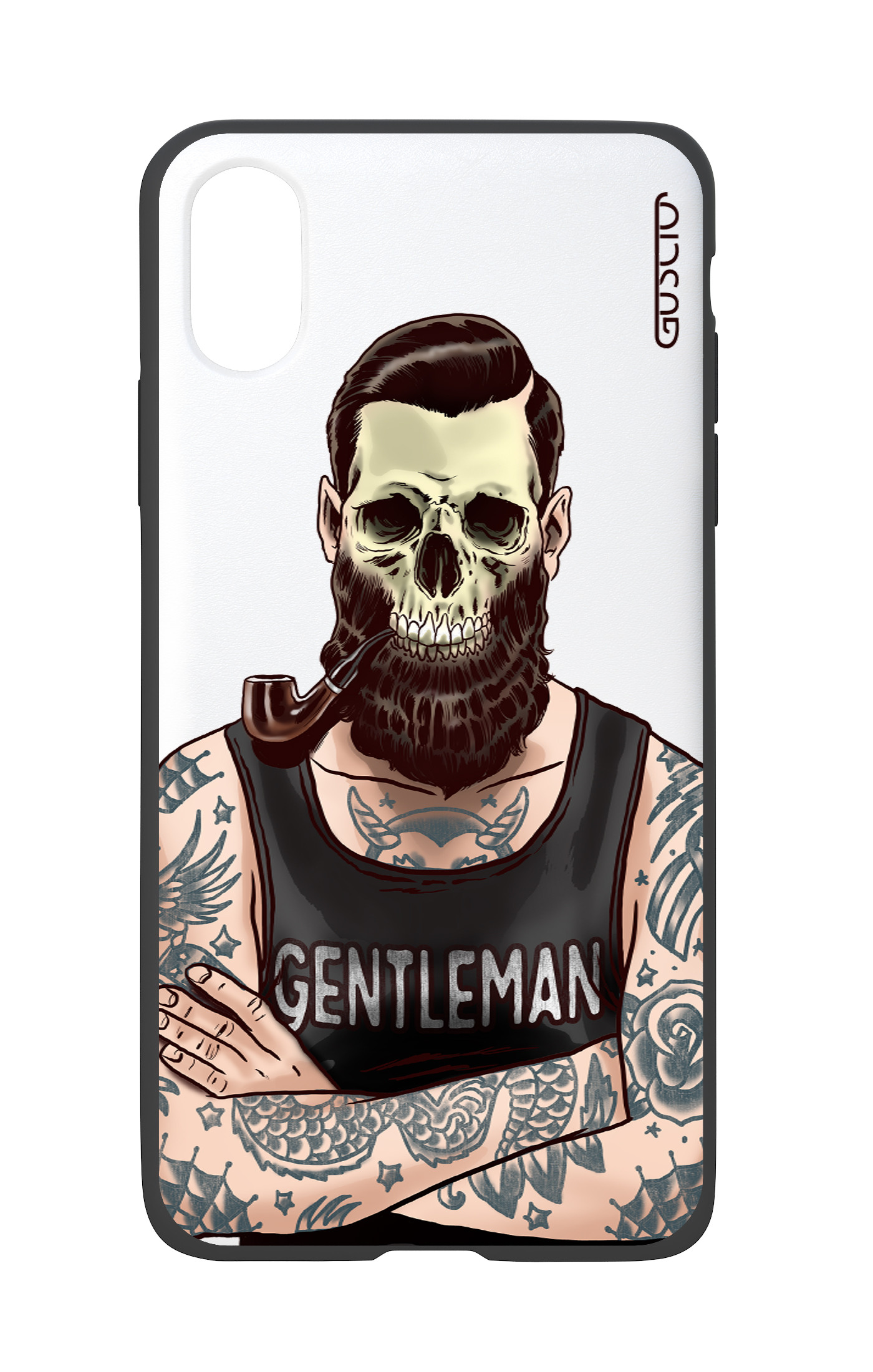 Cover Bicomponente Apple Iphone Xxs Uomo Teschio Bianco Gusciostore