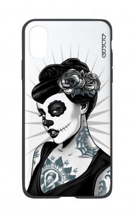 Cover Bicomponente Apple iPhone X/XS - Calavera bianco e nero