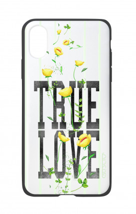 Apple iPhone X White Two-Component Cover - WHT True Love Flowers