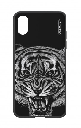 Apple iPhone X White Two-Component Cover - Black Tiger