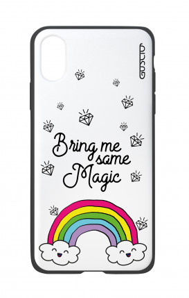 Apple iPhone X White Two-Component Cover - Raimbow magic