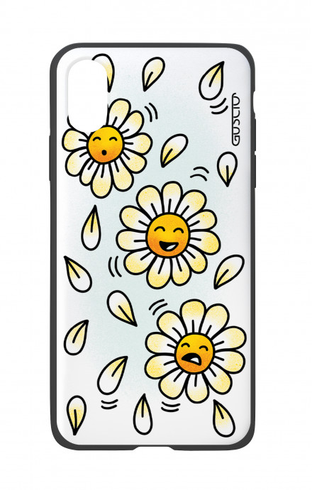 Apple iPhone X White Two-Component Cover - WHT DaisyMoji