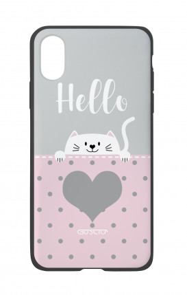Apple iPhone X White Two-Component Cover - Hello Cat