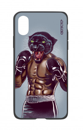 Apple iPhone X White Two-Component Cover - Boxing Panther