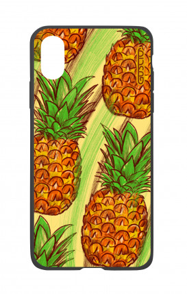 Cover Bicomponente Apple iPhone X/XS - Ananas Pattern fondo giallo
