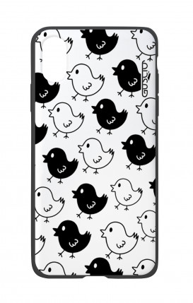 Apple iPhone X White Two-Component Cover - Black & White Chicks