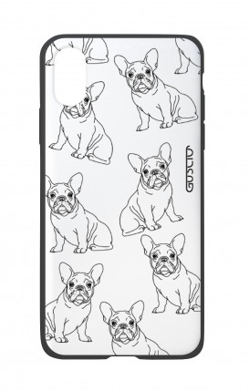Apple iPhone X White Two-Component Cover - French Bulldog Pattern