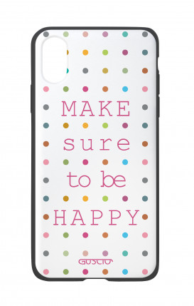Apple iPhone X White Two-Component Cover - Make sure to be happy