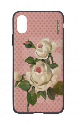 Cover Bicomponente Apple iPhone X/XS - Rose e pois
