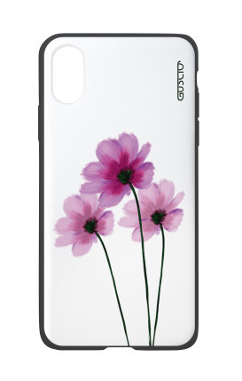Apple iPhone X White Two-Component Cover - Flowers on white
