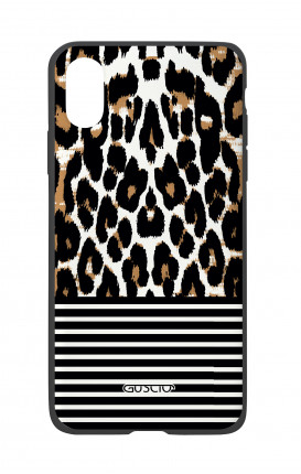 Apple iPhone X White Two-Component Cover - Animalier & Stripes