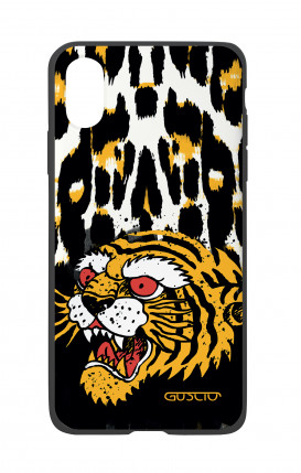 Apple iPhone X White Two-Component Cover - Tiger Animalier