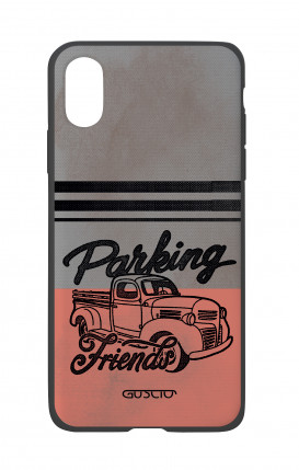 Apple iPhone X White Two-Component Cover - Parking Friends