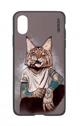 Cover Bicomponente Apple iPhone X/XS - Lince Tattoo