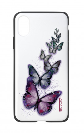 Apple iPhone X White Two-Component Cover - Butterflies