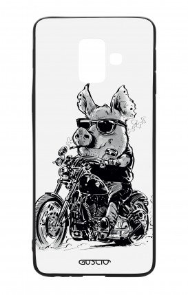 Samsung A6 WHT Two-Component Cover - Biker Pig