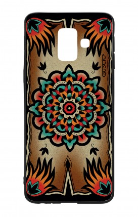 Cover Bicomponente Samsung A6 WHT - Old school Tattoo frame