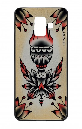 Cover Bicomponente Samsung A6 WHT - Old school Tattoo torcia