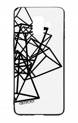 Cover Bicomponente Samsung J6 2018 WHT - Figure geometriche