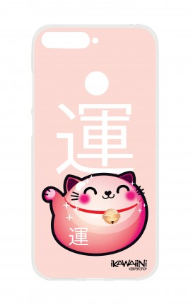 Cover HUAWEI Y6 2018 Prime - Japanese Fortune cat Kawaii